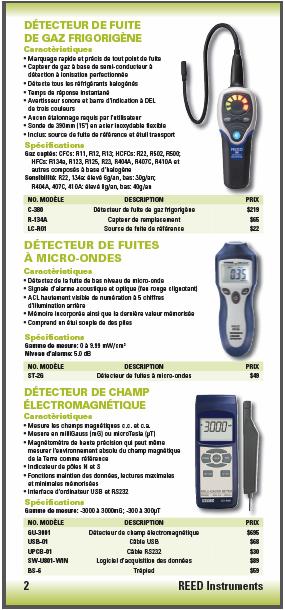 DÉTECTEURS DE GAZ / FUITES
